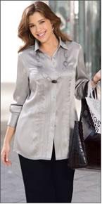 Трикотажная блузка для полных с доставкой